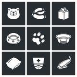 Ensemble d'icône de chat Illustration de vecteur illustration de vecteur