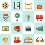 Ensemble d'icône de cinéma Photos stock