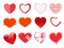 Ensemble d'icône de coeur Image stock