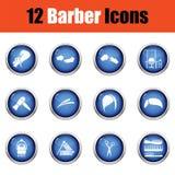 Ensemble d'icône de coiffeur illustration stock