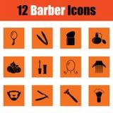 Ensemble d'icône de coiffeur illustration libre de droits