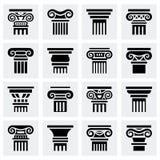 Ensemble d'icône de colonne de vecteur Images stock
