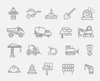 Ensemble d'icône de construction et d'outillage industriel illustration stock
