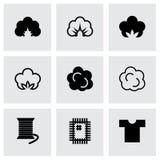 Ensemble d'icône de coton de vecteur Image stock