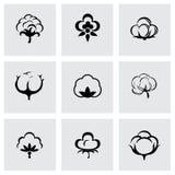 Ensemble d'icône de coton de vecteur Photographie stock libre de droits