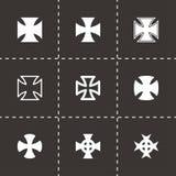 Ensemble d'icône de croix de couperets de vecteur Photographie stock