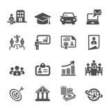 Ensemble d'icône de cycle de vie de carrière d'affaires, vecteur eps10 Photos stock