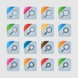 Ensemble d'icône de découverte Photos stock