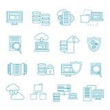 Ensemble d'icône de Datacenter Images libres de droits