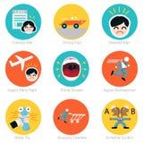 Ensemble d'icône de date-butoir Images stock