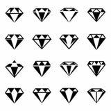 Ensemble d'icône de diamant de vecteur Image stock