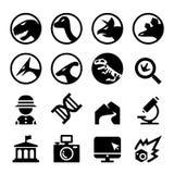 Ensemble d'icône de dinosaure Photo libre de droits