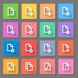 Ensemble d'icône de documents Images libres de droits