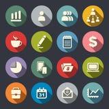 Ensemble d'icône de gestion Images stock