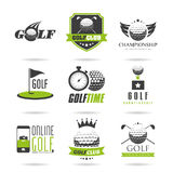 Ensemble d'icône de golf Photos libres de droits