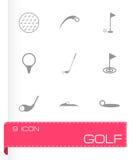 Ensemble d'icône de golf de vecteur Images stock