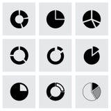 Ensemble d'icône de graphique circulaire de vecteur Image libre de droits