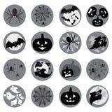 Ensemble d'icône de Halloween Photographie stock