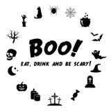 Ensemble d'icône de Halloween Photos stock