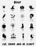 Ensemble d'icône de Halloween Photographie stock libre de droits