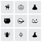 Ensemble d'icône de Halloween de vecteur Photos stock