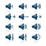 Ensemble d'icône de haut-parleur Image libre de droits