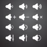 Ensemble d'icône de haut-parleur Images stock