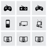 Ensemble d'icône de jeu vidéo de vecteur Photo libre de droits