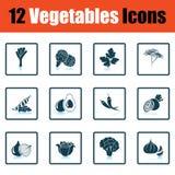 Ensemble d'icône de légumes illustration libre de droits