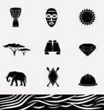 Ensemble d'icône de l'Afrique Photo stock
