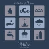 Ensemble d'icône de l'eau Image libre de droits