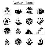 Ensemble d'icône de l'eau illustration de vecteur