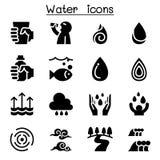 Ensemble d'icône de l'eau illustration stock