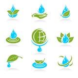 Ensemble d'icône de l'eau. Vecteur Images libres de droits