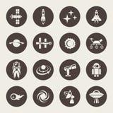Ensemble d'icône de l'espace Image libre de droits