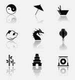 Ensemble d'icône de la Chine Image stock