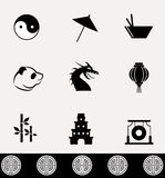 Ensemble d'icône de la Chine Photo stock