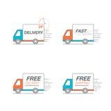 Ensemble d'icône de la livraison Troquez le service, ordre, 24 heures, rapidement et libérez Photographie stock