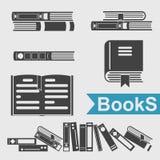 Ensemble d'icône de livre Images stock