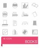 Ensemble d'icône de livres Photographie stock
