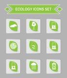 Ensemble d'icône de logo d'écologie Photo libre de droits