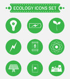 Ensemble d'icône de logo d'écologie illustration libre de droits