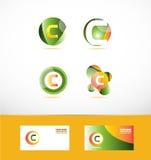 Ensemble d'icône de logo de la lettre C illustration stock