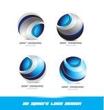 Ensemble d'icône de logo de sphère de l'entreprise constituée en société 3d Photo stock