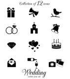 Ensemble d'icône de mariage Images libres de droits