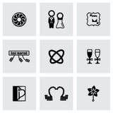 Ensemble d'icône de mariage de vecteur Photo stock