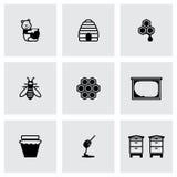 Ensemble d'icône de miel de vecteur Photos libres de droits