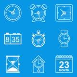 Ensemble d'icône de modèle Temps Horloge Photo stock
