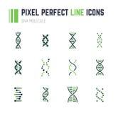 Ensemble d'icône de molécule d'ADN Photos stock