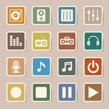 Ensemble d'icône de musique. Image libre de droits